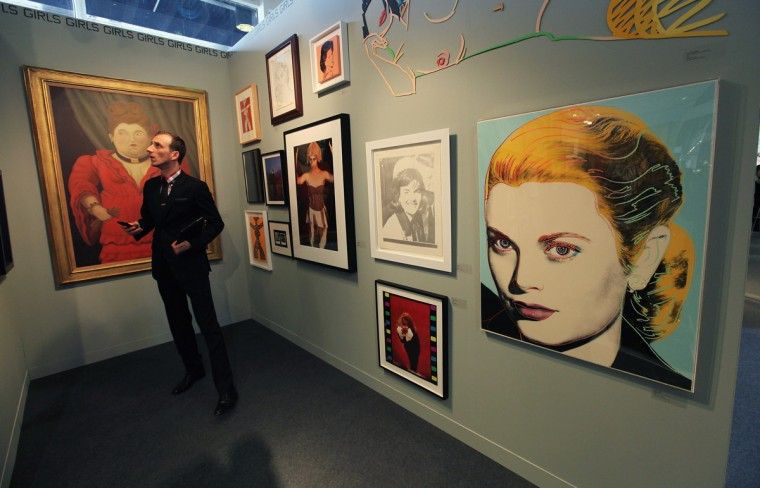The Armory Show, New York's annual international art fair, features paintings, photographs, sculpture and other works of art by artists including Andy Warhol, Cindy Sherman and Pablo Picasso. (Photo by Mario Tama/Getty Images)