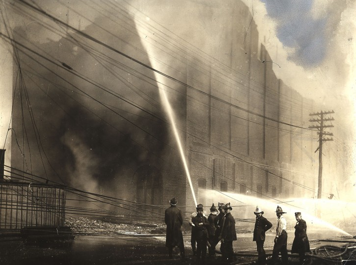 1904: Firefighters try to put out the 1904 fire that ravaged and destroyed parts of downtown Baltimore. (Baltimore Sun)