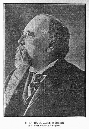 1901: Above is a photo of Chief Judge James McSherry of the Court of Appeals of Maryland. This is the first photograph published in The Sun on September 30. (Baltimore Sun)