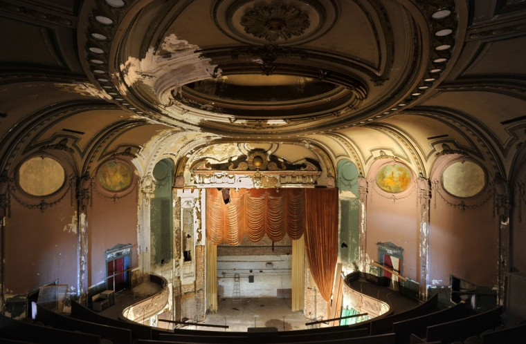 Interior view of theater from the balcony. (Amy Davis, Sun Photographer)