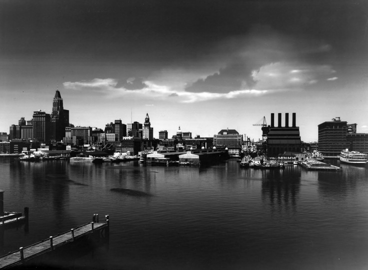 1964: Baltimore skyline as seen from Key Highway. (A. Aubrey Bodine/Baltimore Sun)