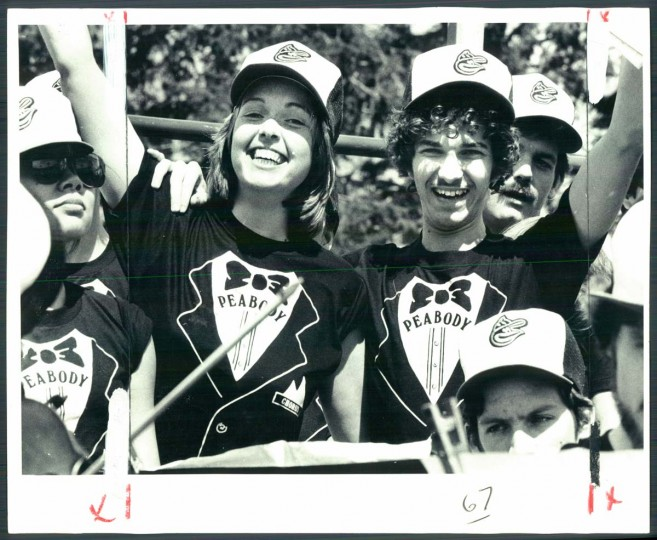 1981: Orioles Opening Day. Members of the Peabody Chorus gave a stadium performance for the 1981 opener. (April Saul/ Baltimore Sun)