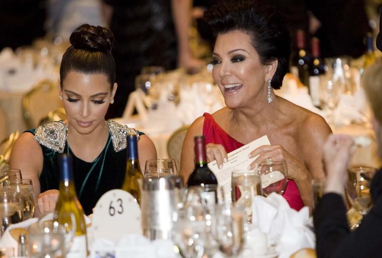 Kim Kardashian and Kris Jenner attend the 2012 White House Correspondents' Association Dinner. (Kristoffer Tripplaar-Pool/Getty Images)
