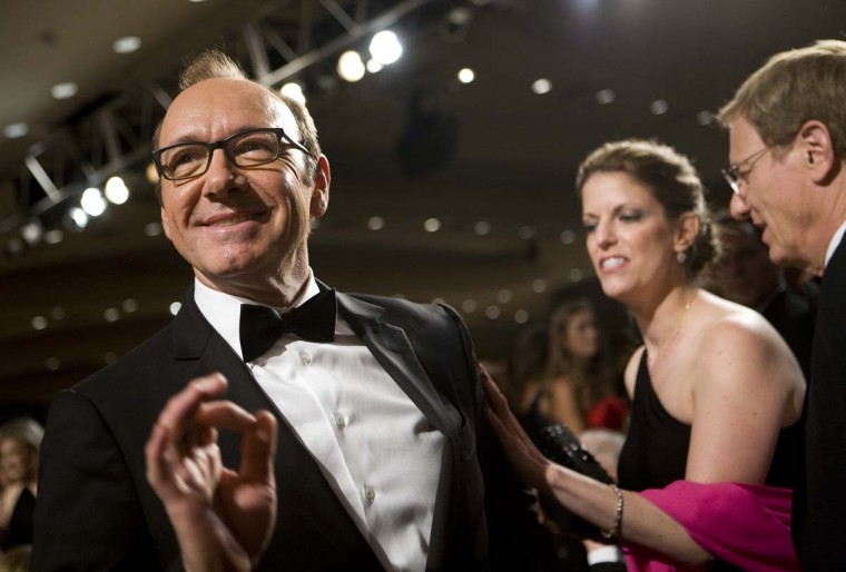 Actor Kevin Spacey attends the 2012 White House Correspondents' Association Dinner held at the Washington Hilton on April 28, 2012. (Kristoffer Tripplaar-Pool/Getty Images)