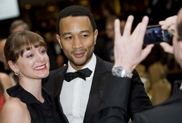 John Legend attends the 2012 White House Correspondents' Association Dinner. (Kristoffer Tripplaar-Pool/Getty Images)