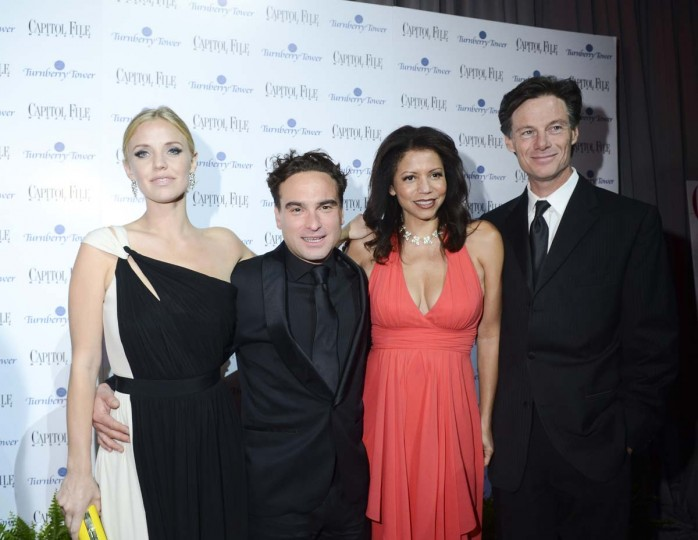 Kelli Garner, Johnny Galecki and Gloria Reuben attend the Capitol File's 7th Annual White House Correspondents' Association Dinner After Party at The Newseum. (Kris Connor/Getty Images)