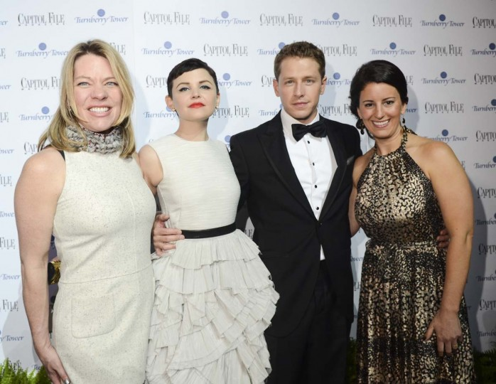 (Katherine Nicholls, Ginnifer Goodwin, Joshua Dallas and Sarah Shaffer attend the Capitol File's 7th Annual White House Correspondents' Association Dinner After Party at The Newseum on April 29, 2012 in Washington, DC. (Kris Connor/Getty Images)