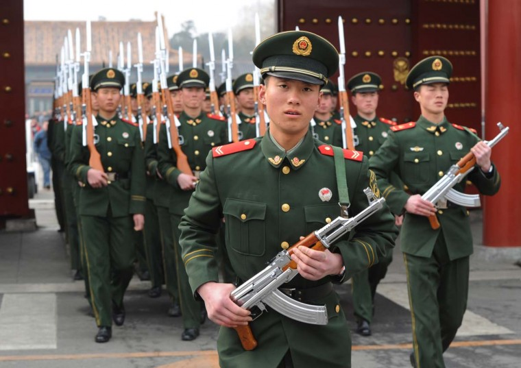"CHINA — The Defense Department continues to monitor China's military expansion and modernization as well as its growth in intelligence collection. ""DIA estimates China spent as much as $183 billion on military-related goods and services in 2011, compared to the $93 billion Beijing reported in its official military budget,"" said Defense Intelligence Agency Director Ronald L. Burgess in his testimony to Congress on Feb. 16, 2012. (Mark Ralston/AFP/Getty Images)"