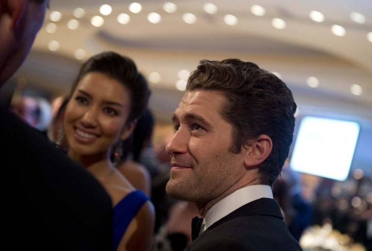 Actor Matthew Morrison of the television show Glee, attends the White House Correspondents Association Dinner in Washington. (Saul Loeb/AFP/Getty Images)