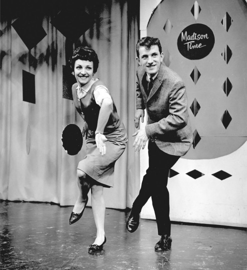 "In May 1960, dancers Joan Darby and Joe Cash perform the Madison dance, a popular line dance that featured different steps such as ""the Jackie Gleason, and away we go"" shown here. (Richard Stacks/Baltimore Sun)"