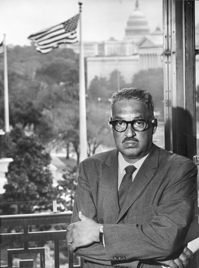 Thurgood Marshall: Supreme Court Justice. Marshall became the first African-American appointed to the U.S. Supreme Court in 1967. Marshall was born in Baltimore on July 2, 1908. (Richard Stacks/Baltimore Sun)