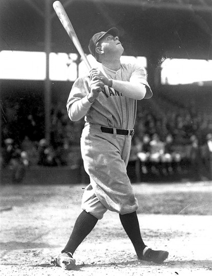 "Babe Ruth: Baseball player. George Herman Ruth, Jr., best known as ""Babe"" Ruth, was born in Baltimore on Feb. 6, 1895. (Leroy Merriken/Baltimore Sun)"
