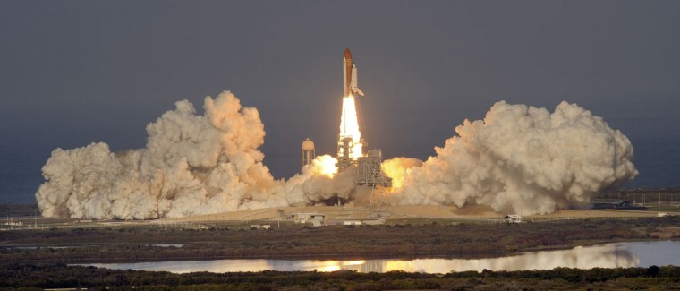 February 24, 2011: Space Shuttle Discovery, STS-133 blasts off from the Kennedy Space Center on its final flight (Red Huber/Orlando Sentinel)