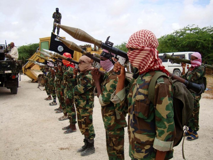 "AL- SHABAAB: Based in southern Somalia, Al-Shabaab is a so-called ""clan-based insurgent and terrorist group,"" which began as the militant wing of the Somali Council of Islamic Courts in 2006. That year the group took over much of the southern region before being defeated in January 2007. Since then, the group has claimed an affiliation with al-Qaida. According to the National Counterterrorism Center, ""the group has exerted temporary and, at times, sustained control over strategic locations in southern and central Somalia by recruiting, sometimes forcibly, regional sub-clans and their militias, using guerrilla asymmetrical warfare and terrorist tactics against the Transitional Federal Government of Somalia and its allies, African Union peacekeepers, and nongovernmental aid organizations."" Above, is a photo of militants belonging to the Al-Shabaab during a show of force in Somalia's capital Mogadishu on Oct. 21, 2010. (Stringer/AFP/Getty Images)"