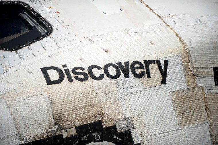 April 19, 2012: Space shuttle Discovery arrives at the Steven F. Udvar-Hazy Center in Chantilly, Virginia, as Discovery is preparing to move into its new home at the Smithsonian's National Air and Space Museum annex. (Olivier Douliery/Abaca Press/MCT)