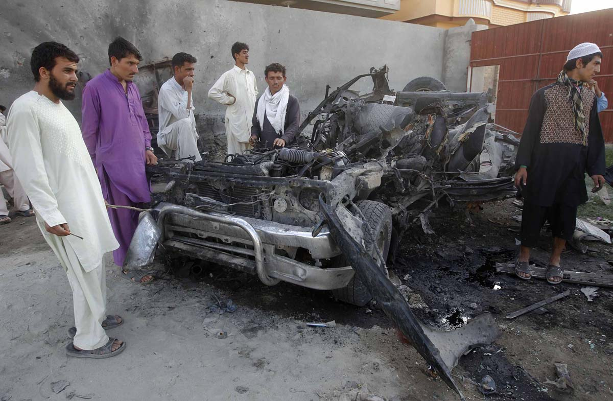 graphic content photos from weekend attacks in afghanistan