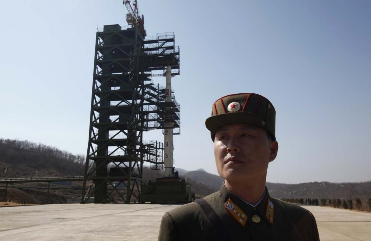 "NORTH KOREA — The Defense Department has noted that North Korea's missile and nuclear program poses a threat to the security and stability in Asia. ""North Korea's leadership is emphasizing policy continuity under Kim Jong-un, which DIA anticipates will include continued pursuit of nuclear and missile capabilities for strategic deterrence and international prestige, as well as to gain economic and political concessions,"" said Defense Intelligence Agency Director Ronald L. Burgess in his testimony to Congress on Feb. 16, 2012. (Bobby Yip/Reuters)"