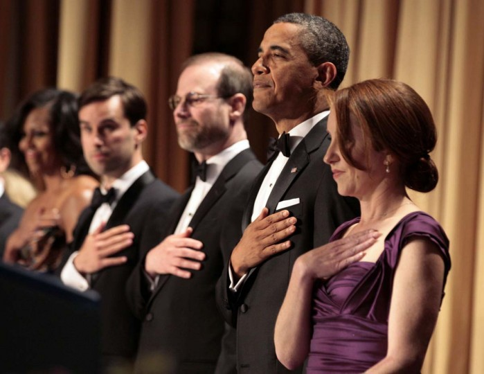 U.S. President Barack Obama attends the White House Correspondents Association annual dinner in Washington April 28, 2012. (Larry Downing/Reuters)