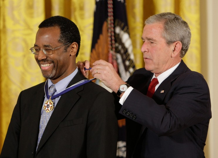 Ben Carson, Sr, M.D.: Neurosurgeon. Director of Pediatric Neurosurgery at Johns Hopkins Hospital. He was awarded the Presidential Medal of Freedom by President Bush in 2008. (Ron Edmonds/AP)