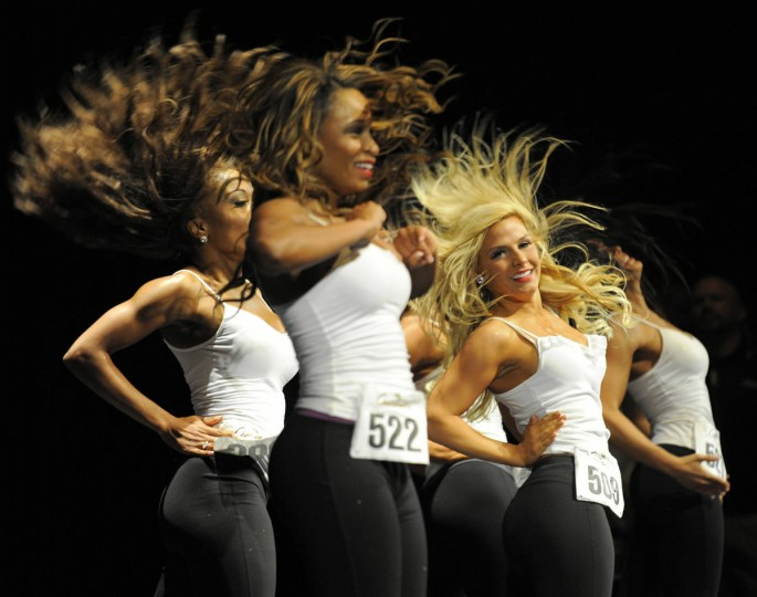 Mar. 19: The 2012 Ravens Cheerleaders had their final tryout at the Model Performing Arts Center at the Lyric. #522 Leslie and #509 Alyssa both made the 2012 team. (Lloyd Fox/Baltimore Sun)