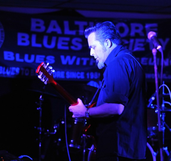 """""""Johnny Cat"""" Soubrand plays at the Baltimore Blues Society as he performs with Terry Hanck. (Robert K. Hamilton/Baltimore)"""