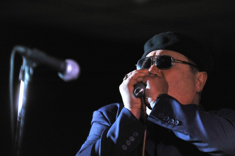 The Baltimore Blues Society At the Rosedale American Legion Hall on Seling Ave. Headling was Sugar Ray and the Bluetones, starring Sugar Ray Norciaon, pictured playing the harmonica. (Robert K. Hamilton/Baltimore)