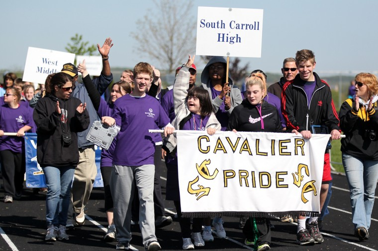 South Carroll High walks in the opening ceremony. (Jen Rynda/Patuxent Homestead)