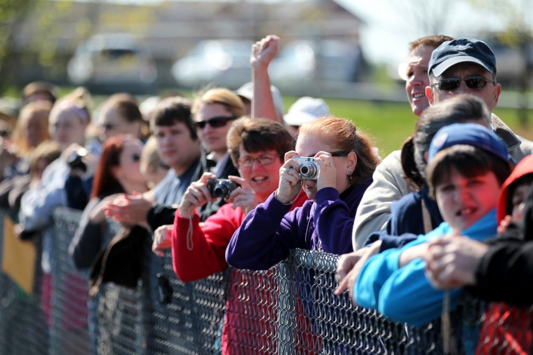 Fans line the edge of the track during the opening ceremony. (Jen Rynda/Patuxent Homestead)