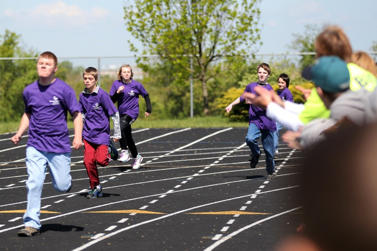 Athletes race during the Special Olympics Carroll County Spring Games. (Jen Rynda/Patuxent Homestead)