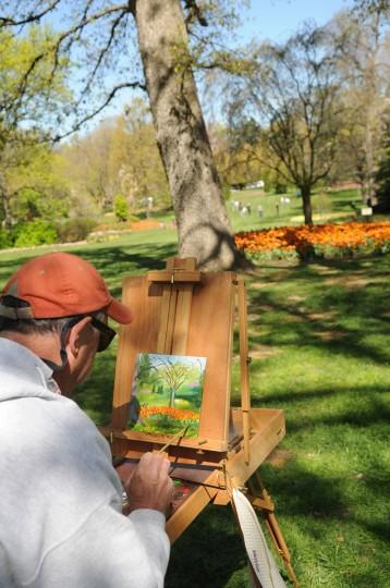 Painting the scene