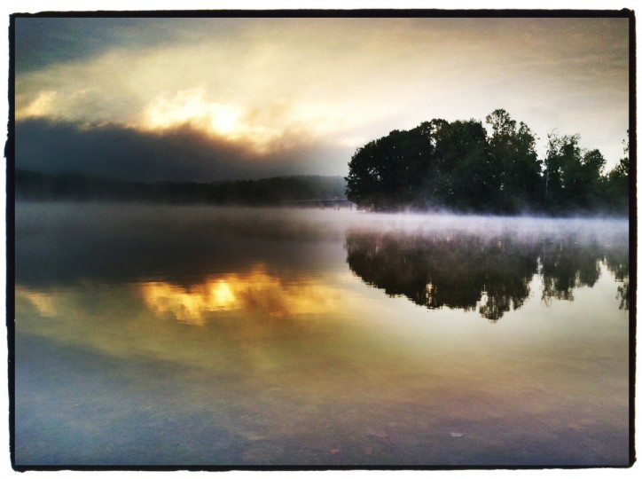 This image was shot on a foggy morning at surise at a boat ramp on Liberty Reservoir. Since there wasn't much light. I sat down on the ground and placed my elbows on my knees as a brace to keep the camera from shaking. (Robert K. Hamilton/Baltimore Sun)