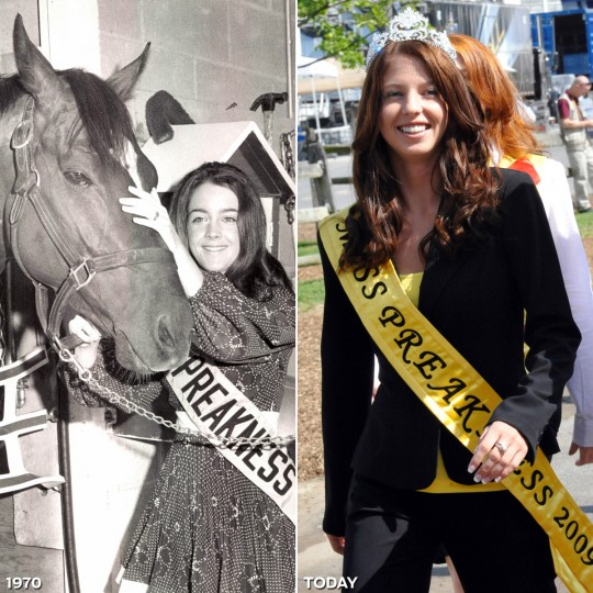 MISS PREAKNESS: LEFT - Miss Preakness 1970, Janet Davenport Phillips. (Baltimore Sun) *** RIGHT - Miss Preakness 2009, Heather Radford. (Jed Kirschbaum/Baltimore Sun)