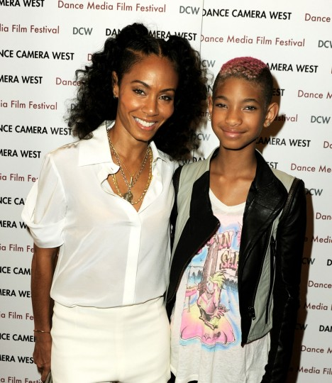 "Singer and actress Willow Smith (R), the youngest of Jada Pinkett Smith and Will Smith's two children, is the latest to get bitten by the fame bug. Their son Jaden fashions himself an actor, rapper, songwriter and dancer and has a rather long list of accomplishments for a young man of only 14 years. Pictured: Actress and Baltimore native Jada Pinkett Smith (L), with her daughter Willow, arrive at the premiere of Sundance Selects' ""First Position"" on April 22, 2012 in Santa Monica, California. (Kevin Winter/Getty Images)"