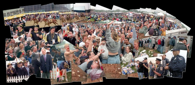 Photo illustration from the 2000 Preakness Stakes. Click image to magnify. (Jerry Jackson/Baltimore Sun)