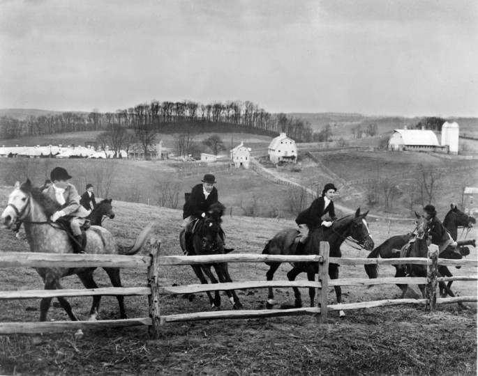 "An award-winning picture by Joseph A. DiPaola, Jr., titled ""Mass Balk"" was taken with a speed graphic camera. The picture was taken at the Green Spring Valley Hunt Club in 1951. (Joseph A. DiPaola/Baltimore Sun)"