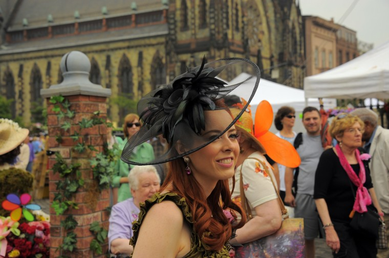 Julie Wilson of Annandale, VA, who won the very first Grand Hat Contest, attends Baltimore's FlowerMart 2012 for the 27th straight time. (Karl Merton Ferron / Baltimore Sun Staff)