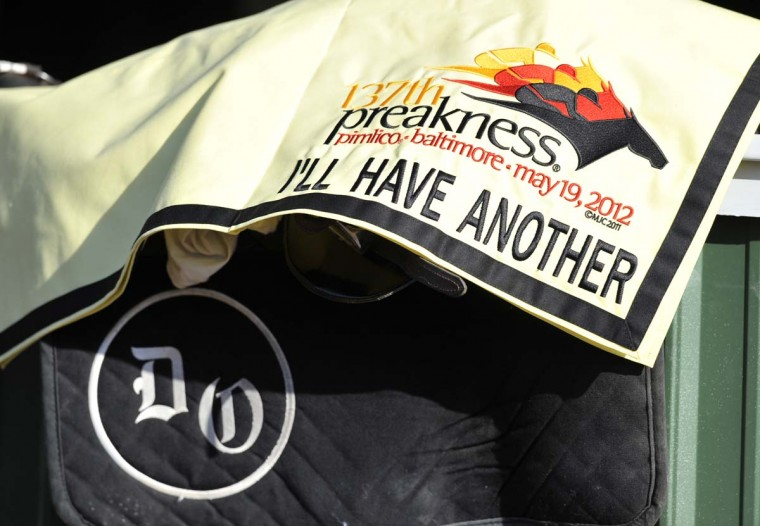 I'll Have Another prepares at Pimlico for the upcoming Preakness race. (Lloyd Fox/Baltimore Sun)