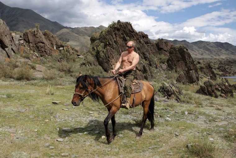 2009: Russia's Prime Minister Vladimir Putin rides a horse in southern Siberia's Tuva region in this August 3, 2009 file photo. (Alexei Druzhinin/Reuters)