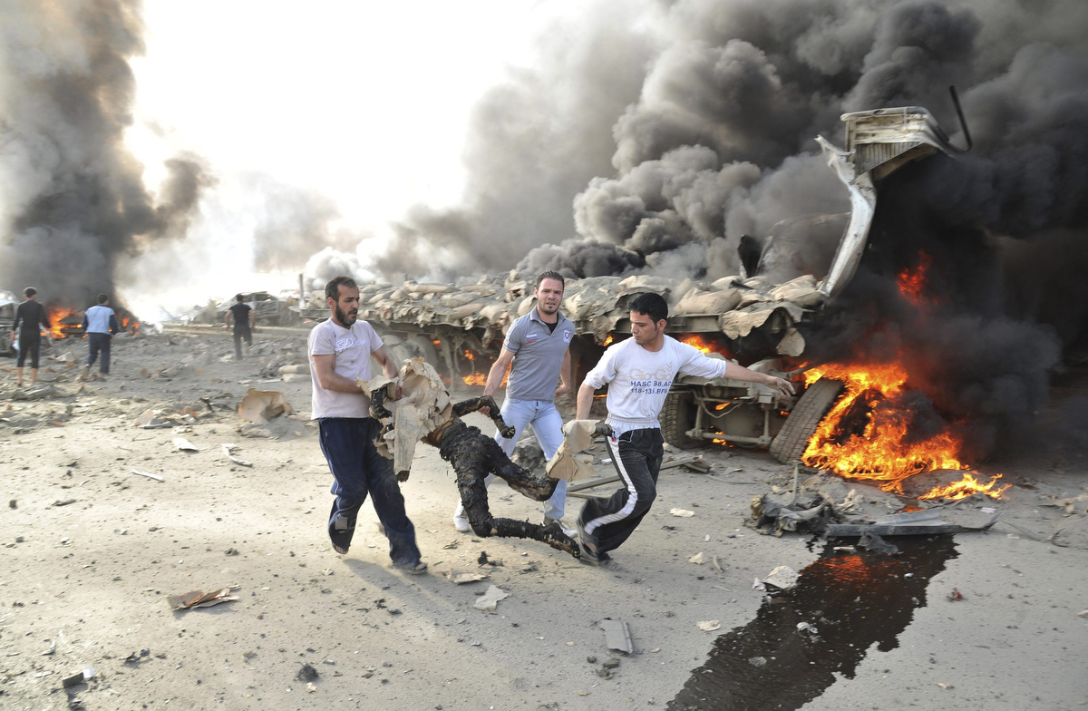 GRAPHIC content: Damascus rocked with explosions