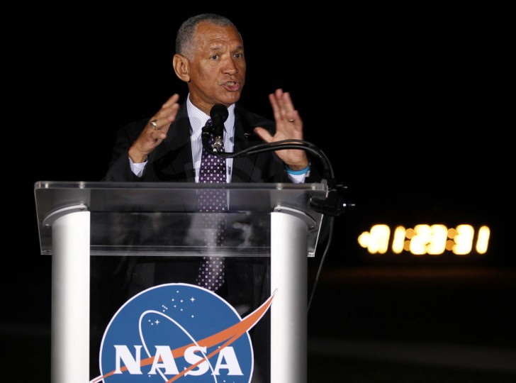 May 22, 2012: NASA Administrator Charles Bolden speaks to the media and congratulates SpaceX after the Falcon 9 test rocket was launched successfully from Space Launch Complex 40 at the Cape Canaveral Air Force Station in Cape Canaveral, Florida. (Michael Brown/Reuters)