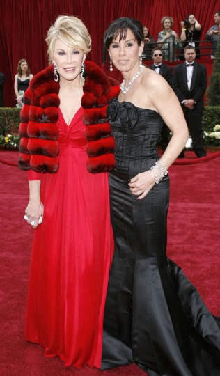 "Joan helped Melissa make a name for herself in ""the business"" by co-hosting E! Entertainment's red carpet interviews with her for a number of years. Pictured: Joan Rivers and Melissa Rivers arriving for the 79th Academy Awards Sunday, February 25, 2007, in Los Angeles. (AP Photo/Kevork Djansezian)"