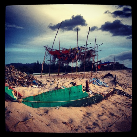 Fishing hut on the island of Phu Quoc. (Credit: Scott and Pam Gorsuch)