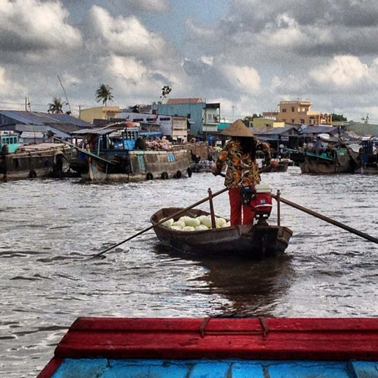 Floating market on the Mekong Delta. (Credit: Scott and Pam Gorsuch)