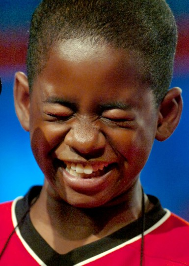 May 30, 2007: In Round 3 of the 2007 Scripps National Spelling Bee this afternoon, Kennyi Aouad, 11, of Terre Haute, Indiana, was convulsed when he heard the whimsical sound of the word he was given to spell: sardoodledom. He spelled it correctly. (Amy Davis/Baltimore Sun)