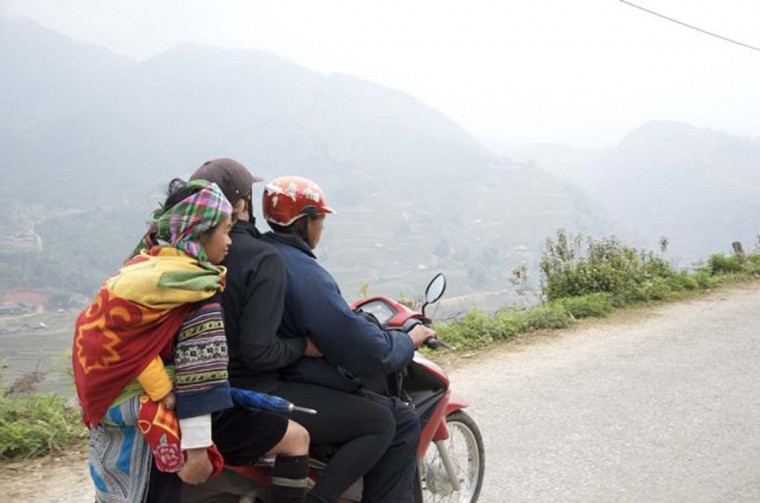 On their way back, Scott and Pam rode on a motorbike back to Sapa to catch a train from Lo Cai. (Credit: Scott and Pam Gorsuch)
