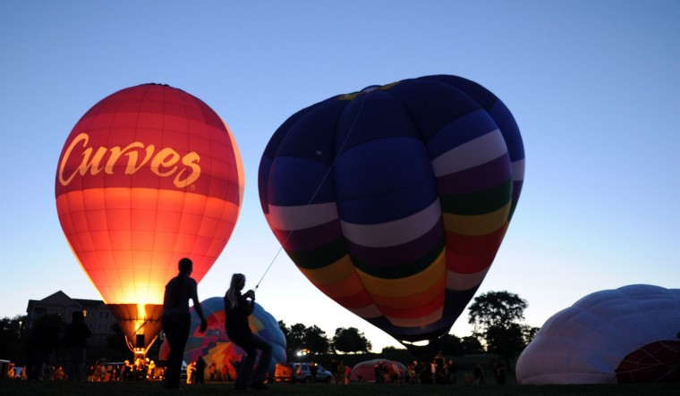 "More balloons begin to rise in time for the evening ""glow."" (Brian Krista/Patuxent Homestead)"