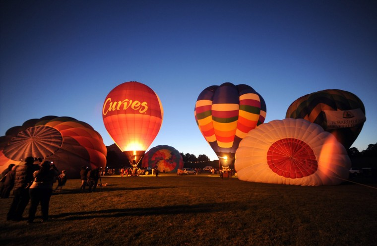 "Balloon start to line up for the evening ""glow."" (Brian Krista/Patuxent Homestead)"
