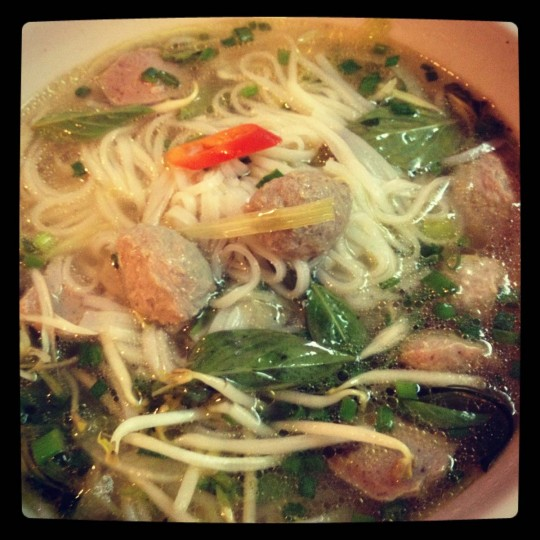 A shot of delicious Pho Soup in Ho Chi Minh City. (Credit: Scott and Pam Gorsuch)