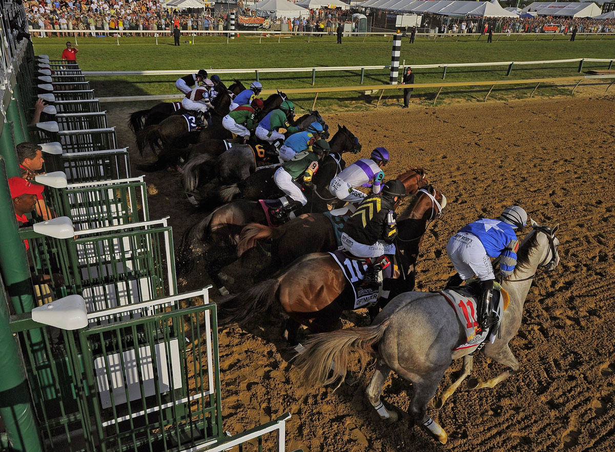 Capturing footage from the Pimlico Starting Gate at Preakness
