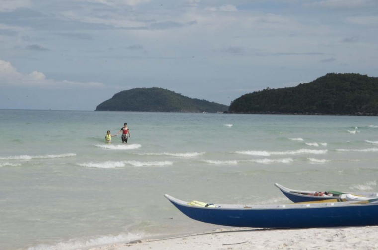 Their final stop was the island of Phu Quoc. A view of Soa Beach on the island. (Credit: Scott and Pam Gorsuch)